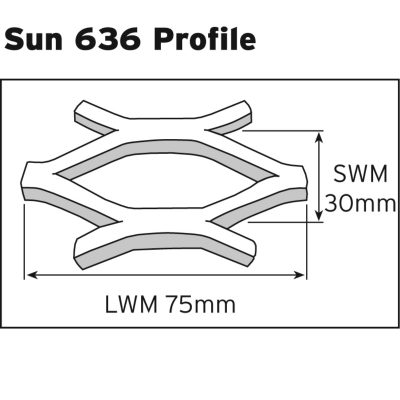 Sun 636 Expanded Metal Sheet: <br />Sunscreen 51 x 15mm Openings