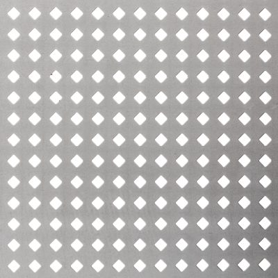 D05619 Perforated Metal Sheet: 5.6mm Diamond, 19% Open Area