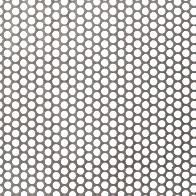 R06451 Perforated Metal Sheet: 6.4mm Round, 51% Open Area