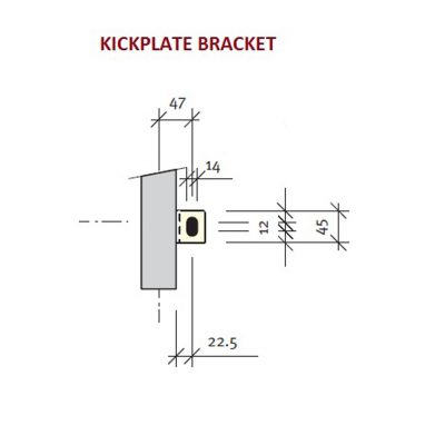 Kickplate Bracket Mild Steel single slot