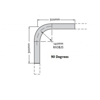 Rail Bend 25NB Medium Mild Steel