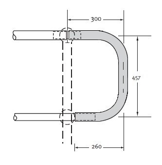 Horizontal Closure Bend 40NB Medium Mild Steel